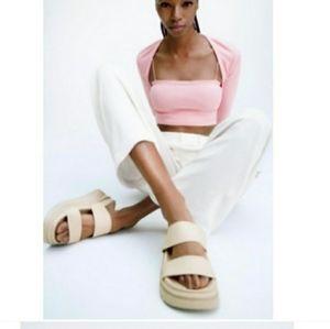 Zara rubberized platform sandals